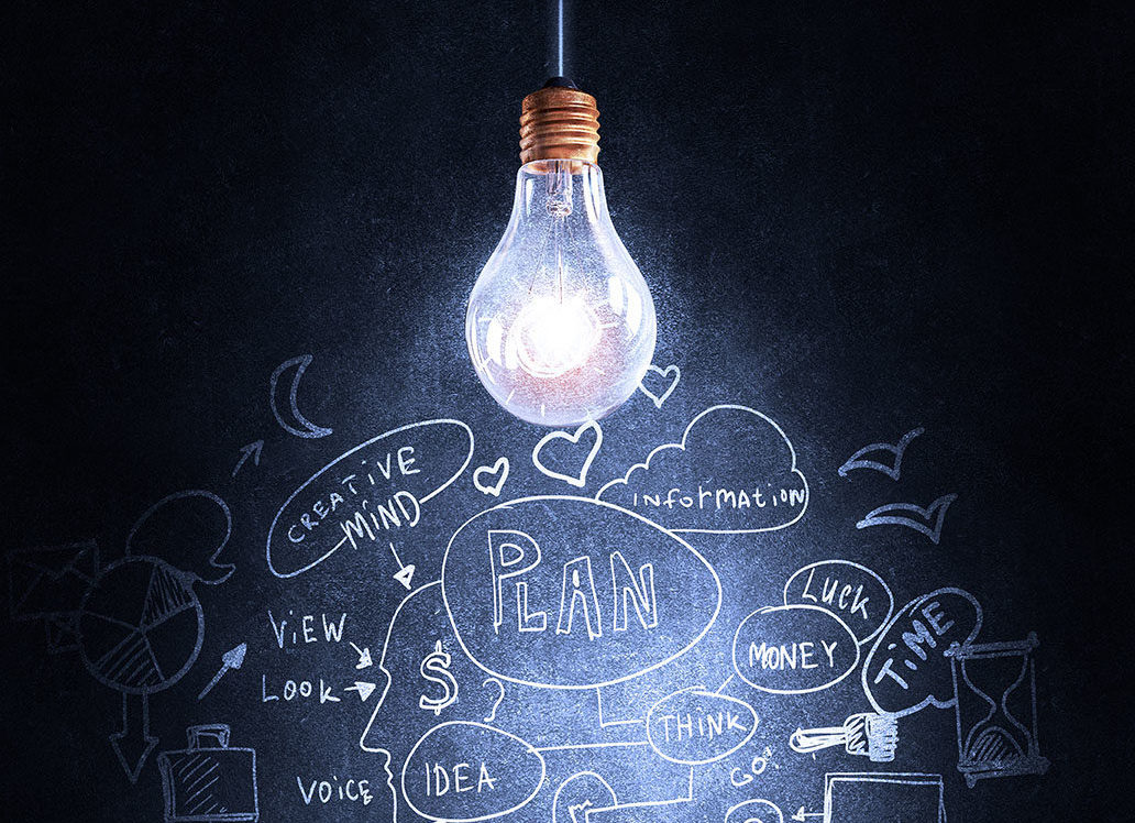 Lightbulb over strategy notes