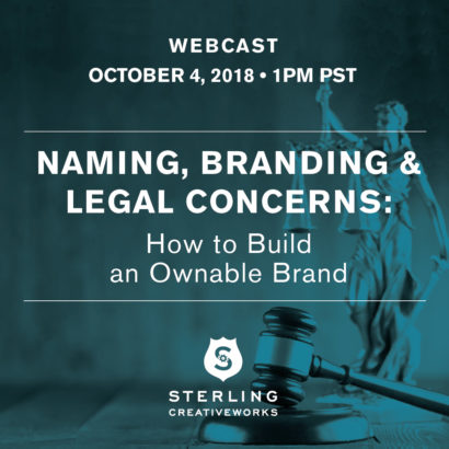 Sterling Creativeworks October 2018 LIVE WEBINAR